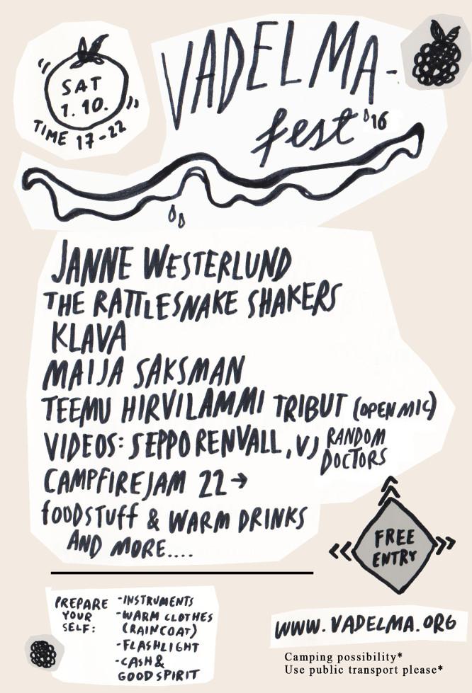 vadelmafest-16 flyer by Hanna Vainio